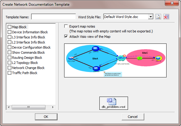 The Create Network Doentation Template Window Opens Image Image244