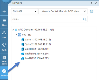Viewing Nodes and Node Maps of an ACI Fabric