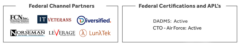 NetBrain Federal Channel Partners and Federal Certifications