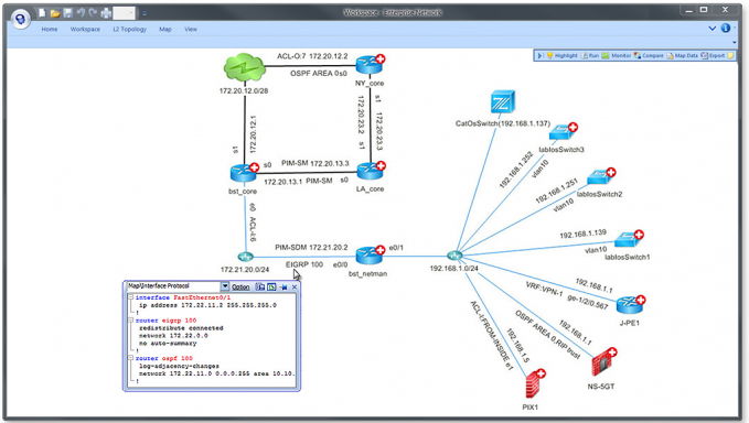 Network diagram software dynamic network diagrams netbrain dynamic network maps are better than static network diagrams created by a network topology tool dynamic ccuart Images