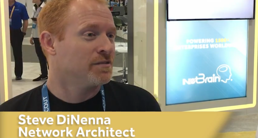 Steve DiNenna Interview With NetBrain at CLUS2017