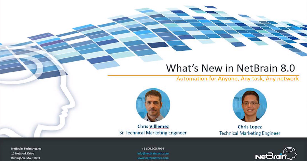Democratizing Network Automation: What's New in NetBrain 8.0