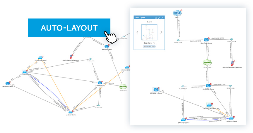 netbrain dynamic map auto layout