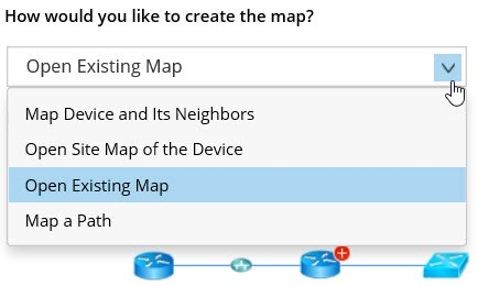netbrain open existing dynamic map