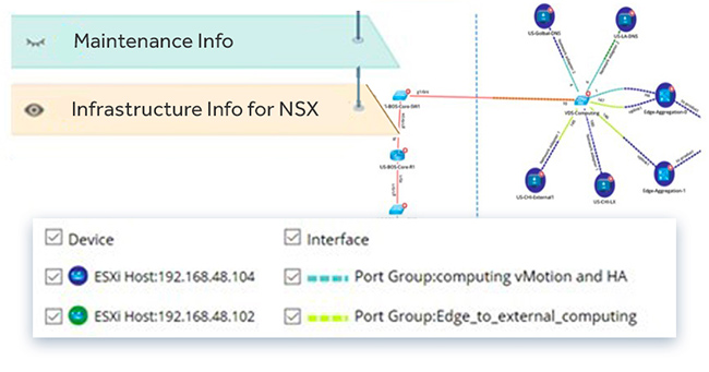 netbrain automate nsx mapping